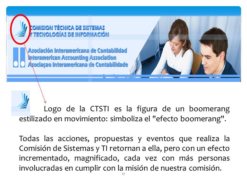 27 Logo de la CTSTI es la figura de un boomerang estilizado en movimiento: simboliza el efecto boomerang .