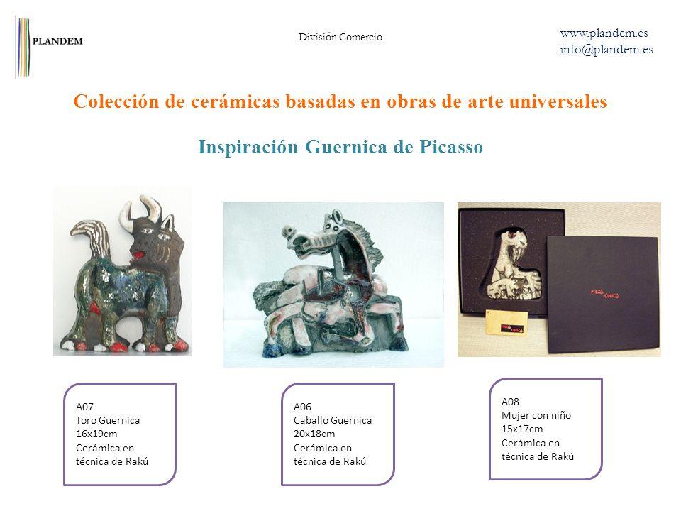 Inspiración Guernica de Picasso Colección de cerámicas basadas en obras de arte universales División Comercio www.plandem.es info@plandem.es A06 Cabal