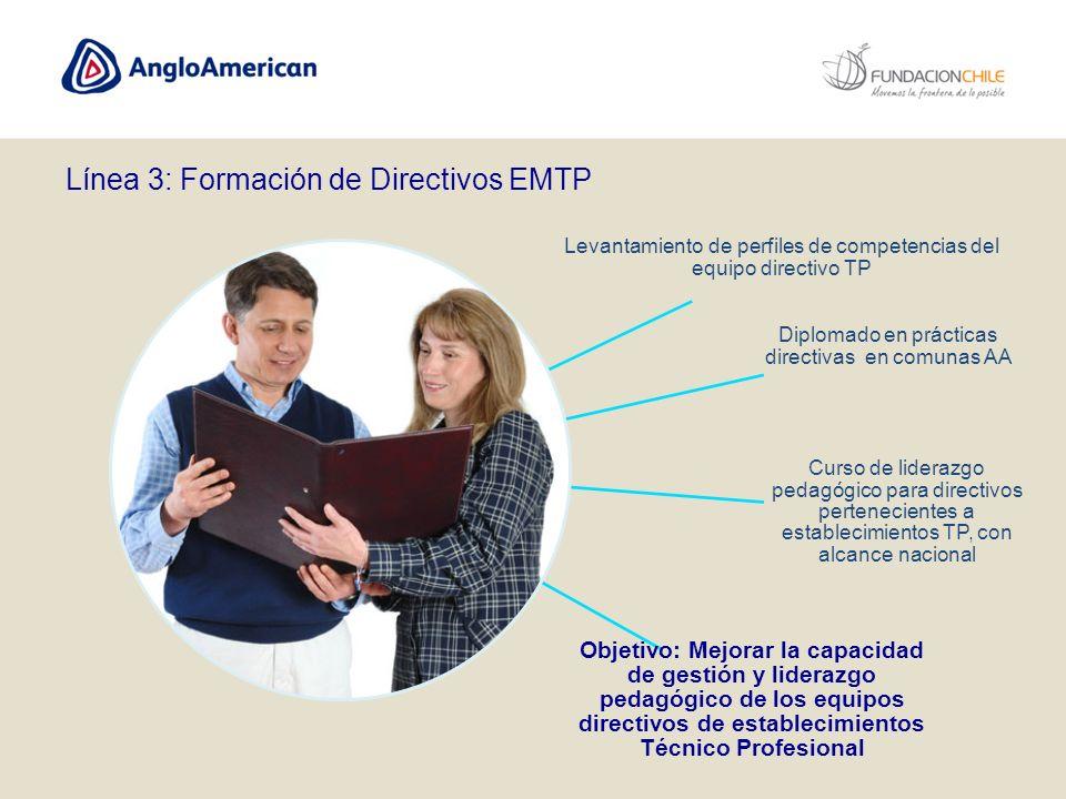 Levantamiento de perfiles de competencias del equipo directivo TP Diplomado en prácticas directivas en comunas AA Curso de liderazgo pedagógico para d