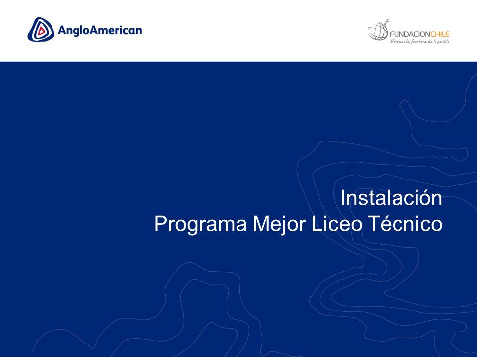 Instalación Programa Mejor Liceo Técnico