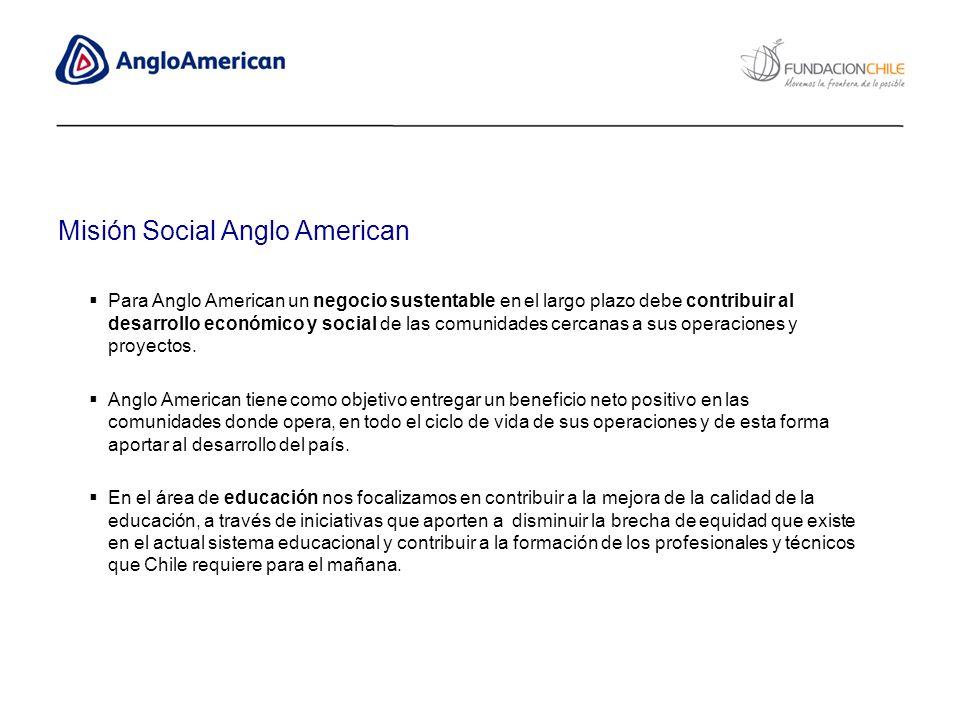 Para Anglo American un negocio sustentable en el largo plazo debe contribuir al desarrollo económico y social de las comunidades cercanas a sus operac