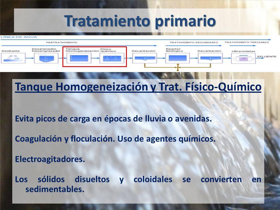 Tratamiento primario Tanque Homogeneización y Trat.