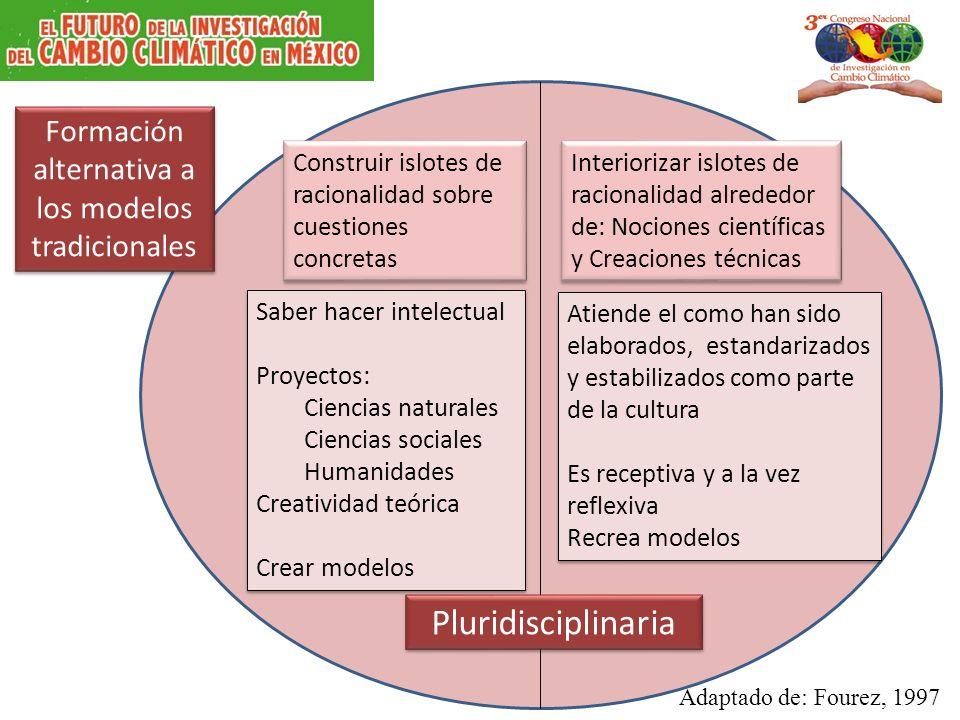 Formación alternativa a los modelos tradicionales Construir islotes de racionalidad sobre cuestiones concretas Interiorizar islotes de racionalidad al