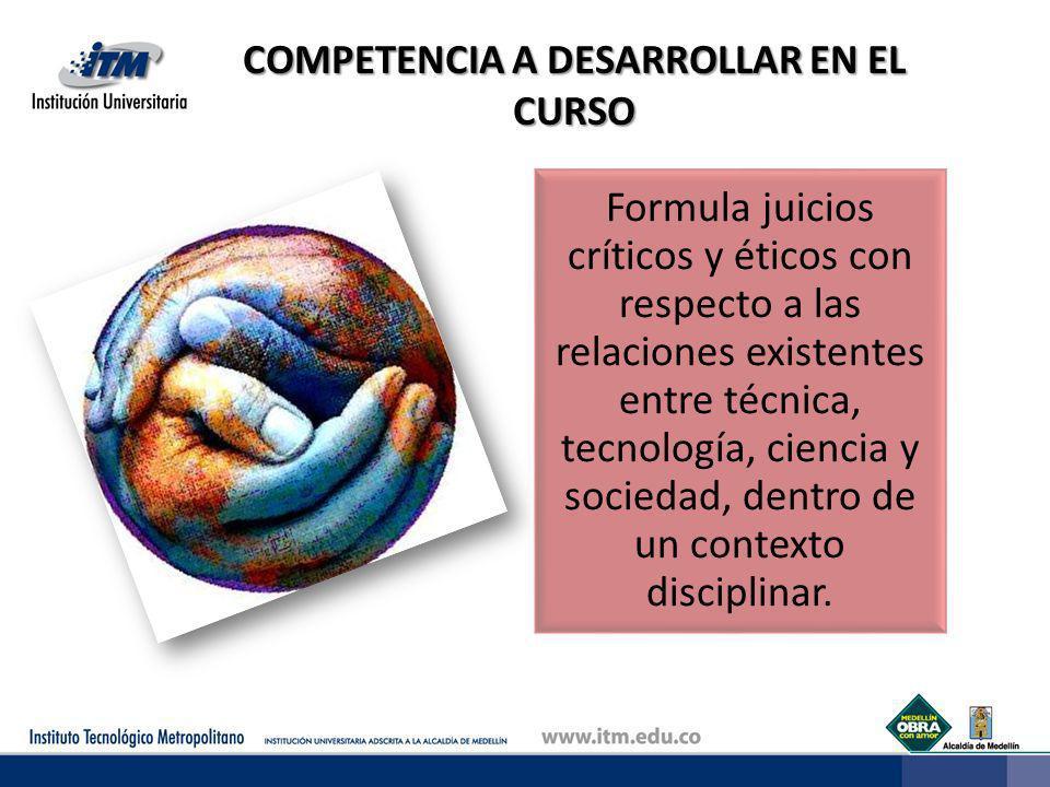 CONTENIDOS PARA EL DESARROLLO DE LA COMPETENCIA El estudiante realiza una concertación informada, acerca de los compromisos, contenidos y estrategias metodológicas requeridas para el logro de la competencia de CTS.