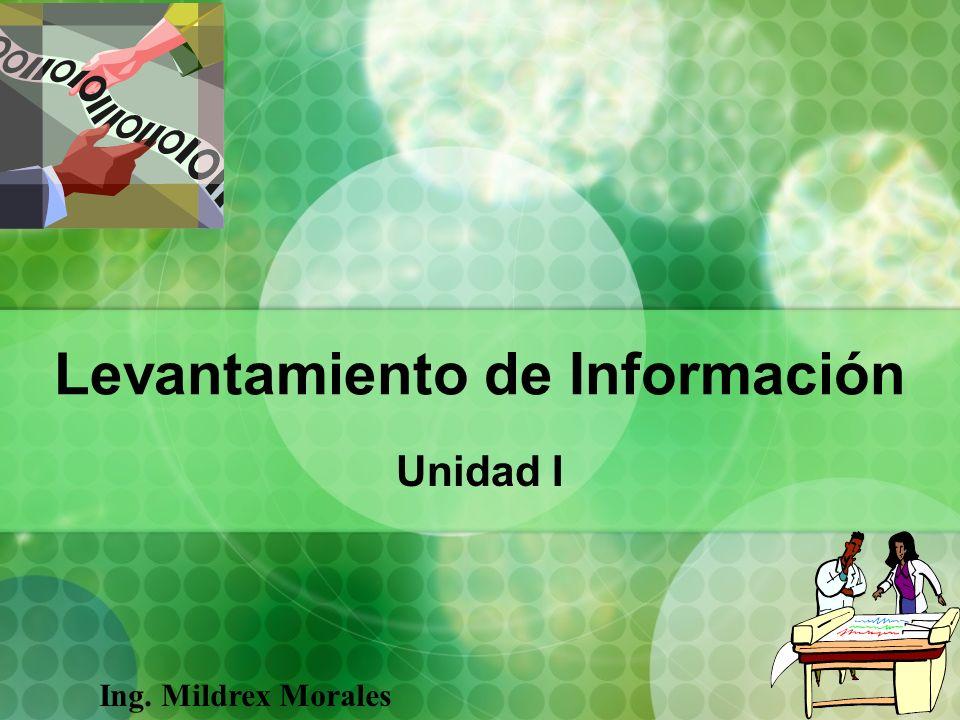 Levantamiento de Información Unidad I Ing. Mildrex Morales