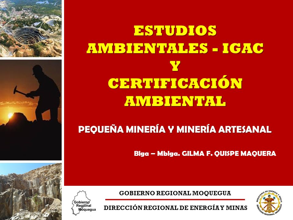 Ministerio de Energía y Minas Dirección Regional de Energía y Minas Unidad Técnica de Asuntos Ambientales PERÚ Categoría I - Declaración de Impacto Ambiental.