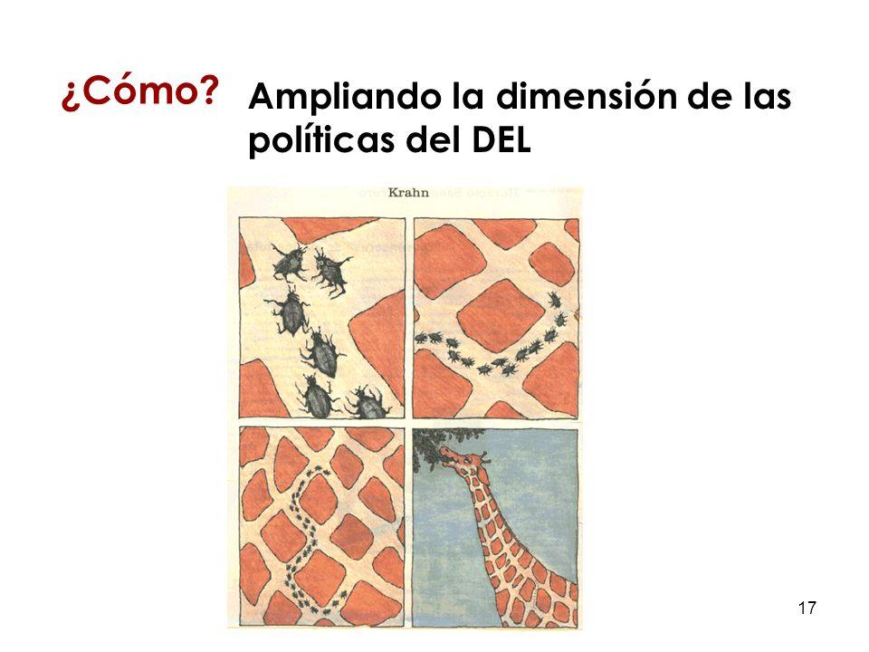 17 ¿Cómo Ampliando la dimensión de las políticas del DEL