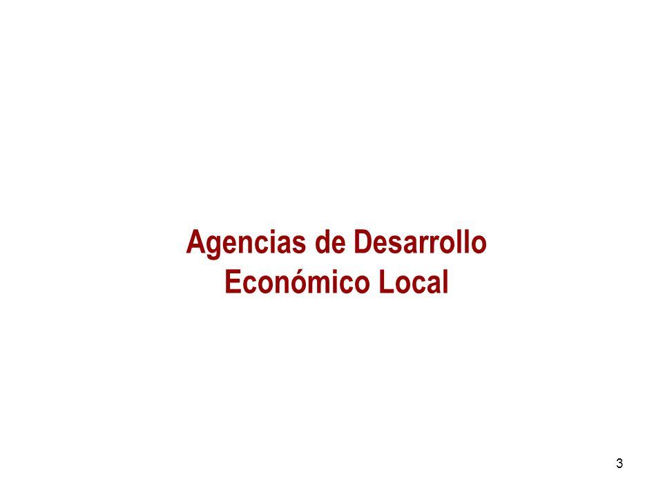 3 Agencias de Desarrollo Económico Local