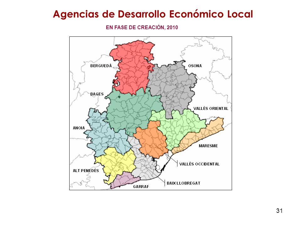 31 Agencias de Desarrollo Económico Local EN FASE DE CREACIÓN, 2010