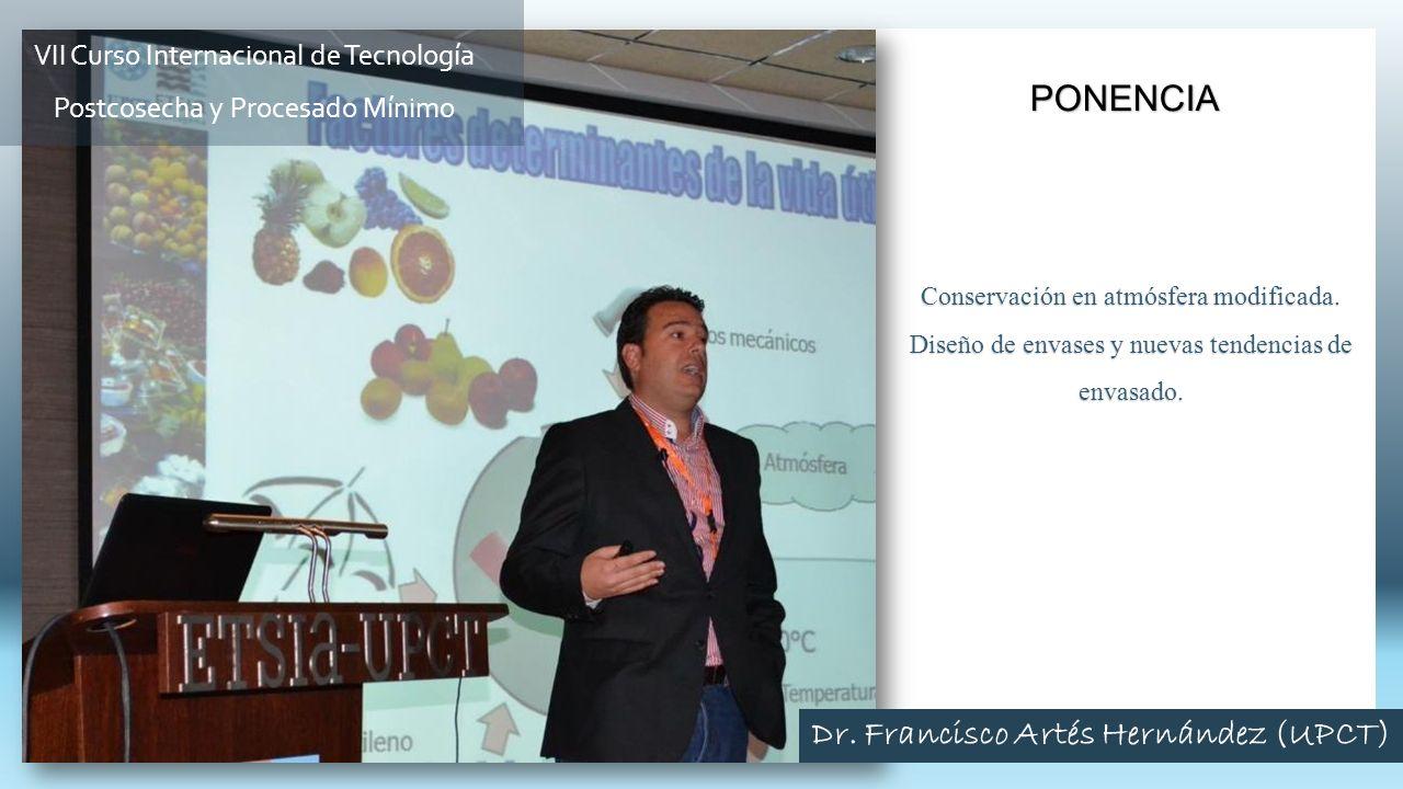 Conservación en atmósfera modificada. Diseño de envases y nuevas tendencias de envasado. PONENCIA VII Curso Internacional de Tecnología Postcosecha y