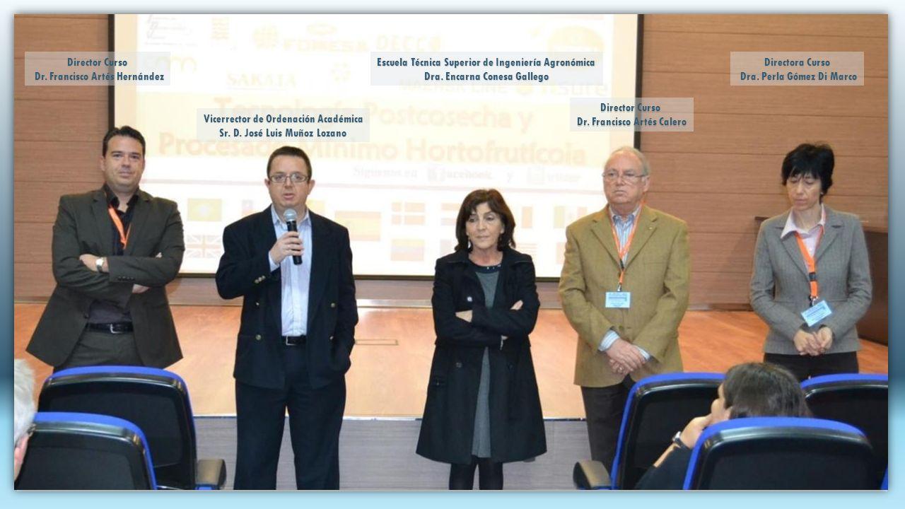 Director Curso Dr.Francisco Artés Calero Vicerrector de Ordenación Académica Sr.