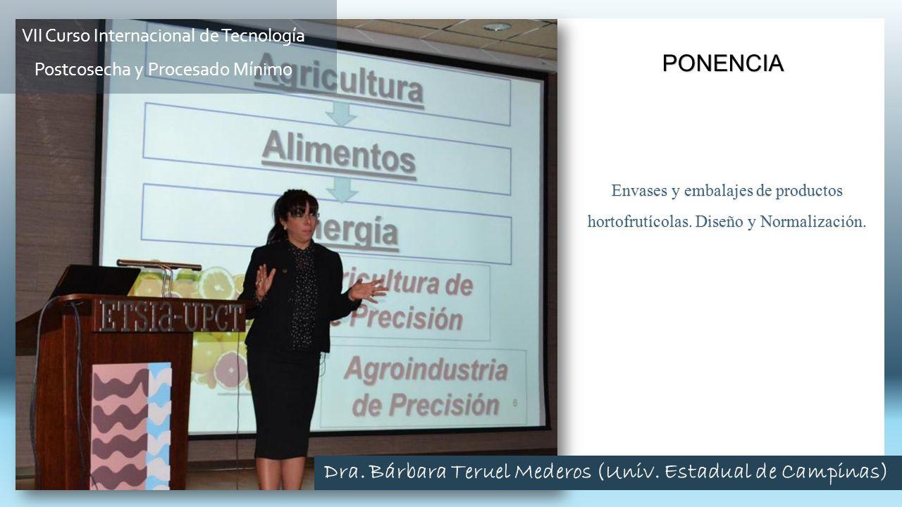 Envases y embalajes de productos hortofrutícolas. Diseño y Normalización. PONENCIA VII Curso Internacional de Tecnología Postcosecha y Procesado Mínim