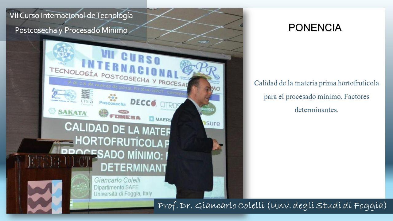 Calidad de la materia prima hortofrutícola para el procesado mínimo. Factores determinantes. PONENCIA VII Curso Internacional de Tecnología Postcosech