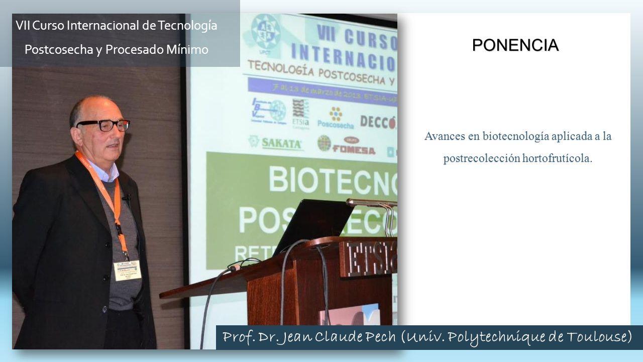 Avances en biotecnología aplicada a la postrecolección hortofrutícola. PONENCIA VII Curso Internacional de Tecnología Postcosecha y Procesado Mínimo P