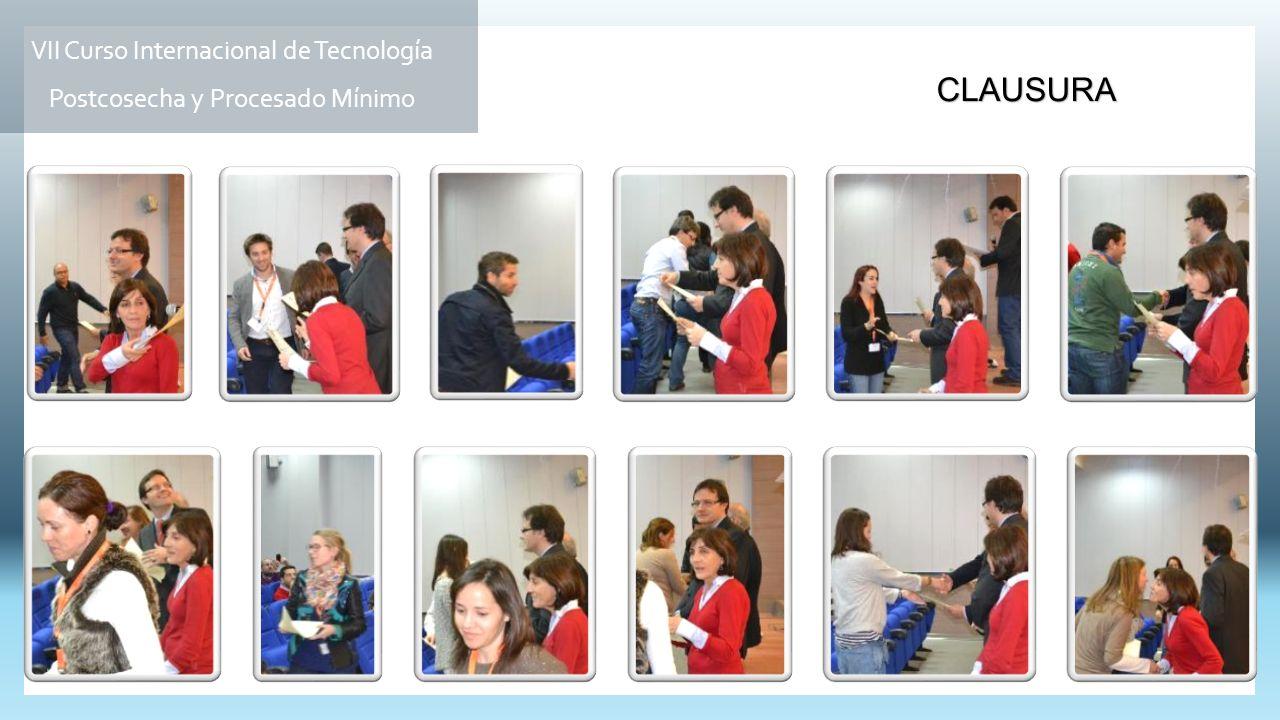 CLAUSURA VII Curso Internacional de Tecnología Postcosecha y Procesado Mínimo