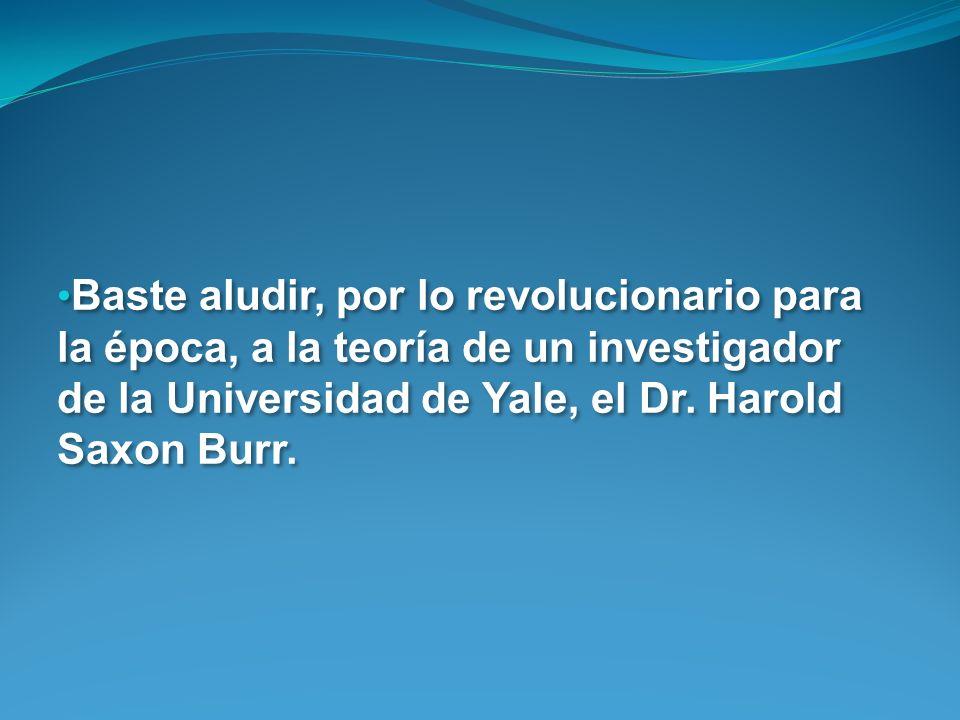 Baste aludir, por lo revolucionario para la época, a la teoría de un investigador de la Universidad de Yale, el Dr.