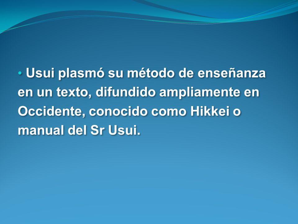 Usui plasmó su método de enseñanza en un texto, difundido ampliamente en Occidente, conocido como Hikkei o manual del Sr Usui.