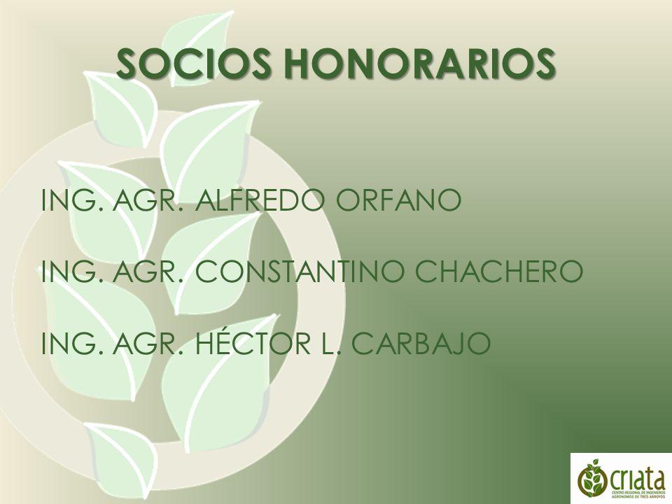 SOCIOS HONORARIOS ING. AGR. ALFREDO ORFANO ING. AGR.