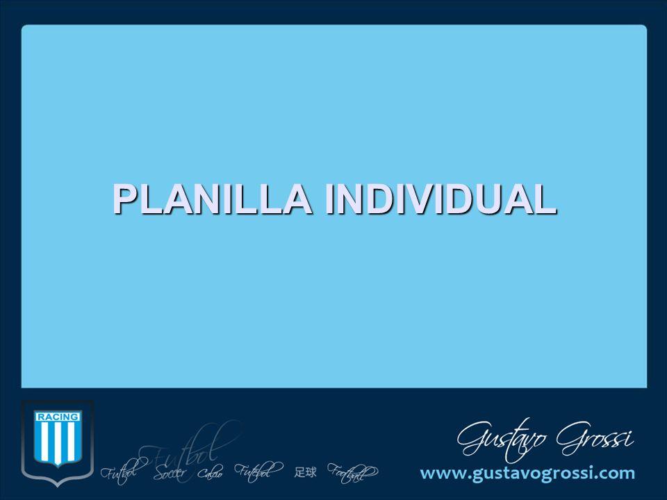PLANILLA INDIVIDUAL