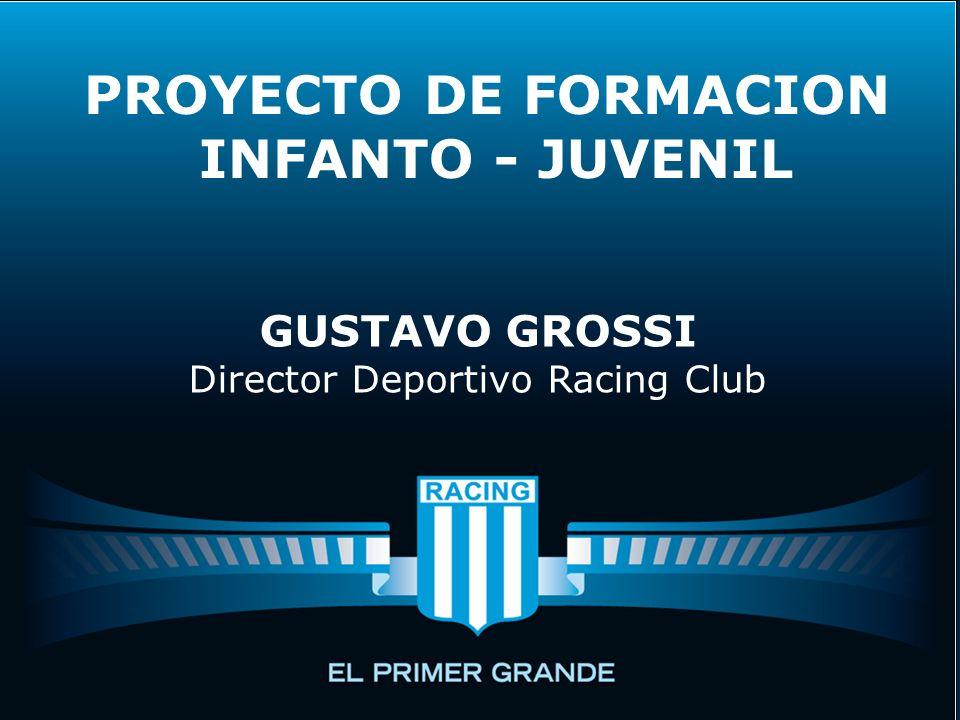 PROYECTO DE FORMACION INFANTO - JUVENIL GUSTAVO GROSSI Director Deportivo Racing Club