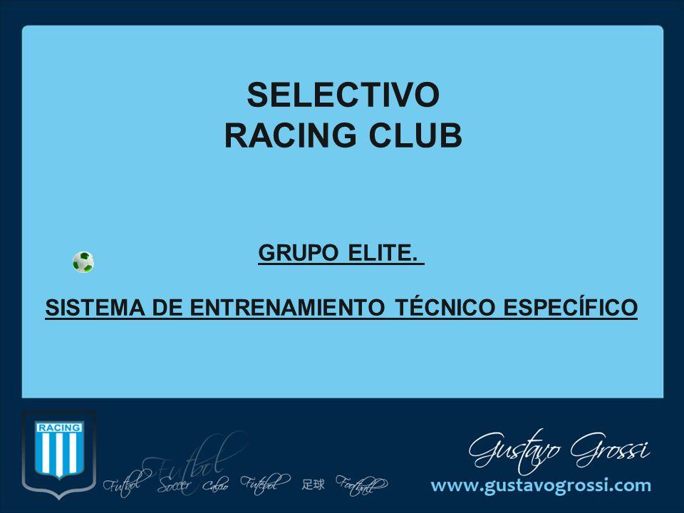 GRUPO ELITE. SISTEMA DE ENTRENAMIENTO TÉCNICO ESPECÍFICO SELECTIVO RACING CLUB