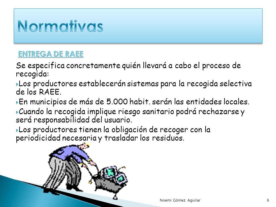 Se especifica concretamente quién llevará a cabo el proceso de recogida: Los productores establecerán sistemas para la recogida selectiva de los RAEE.