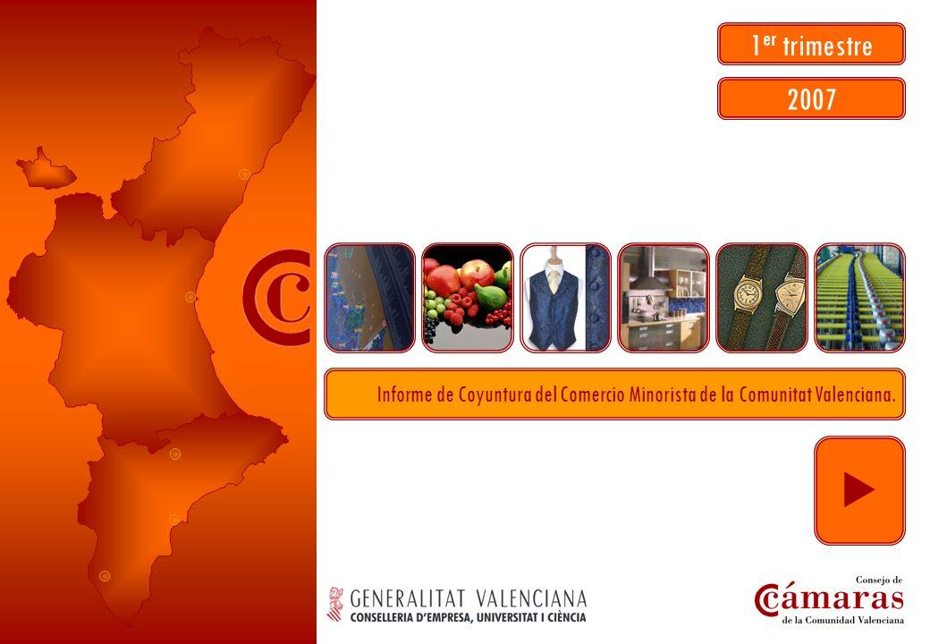 07 ECCM I Informe de Coyuntura del Comercio Minorista de la Comunitat Valenciana. 1 er trimestre 2007