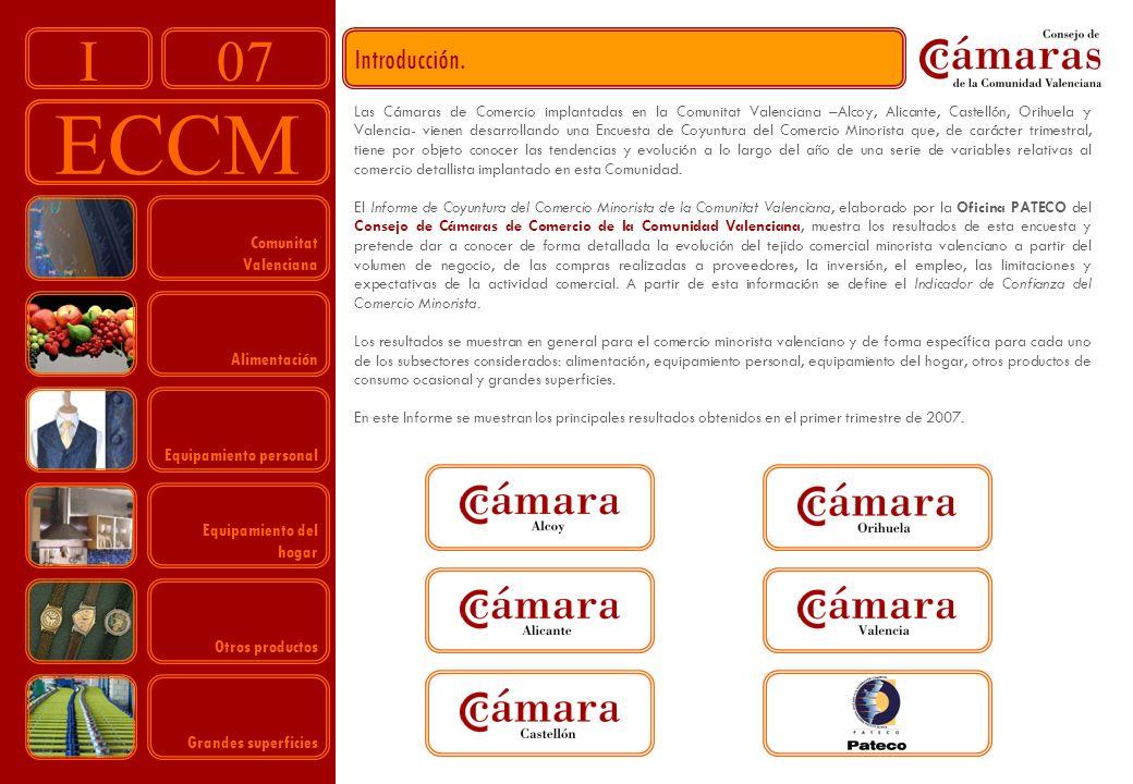 07 ECCM I Introducción. Las Cámaras de Comercio implantadas en la Comunitat Valenciana –Alcoy, Alicante, Castellón, Orihuela y Valencia- vienen desarr