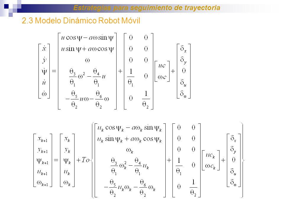 Estrategias para seguimiento de trayectoria 2.3 Modelo Dinámico Robot Móvil
