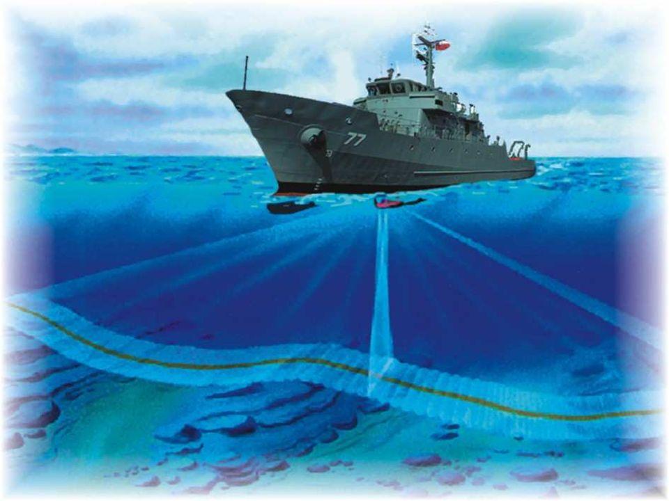 El abanico de ondas sonoras formado por los sonares de barrido ancho permite una resolución y precisión muy altas.