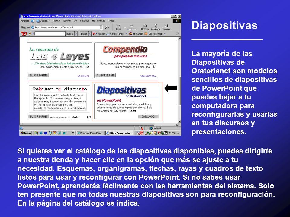 Diapositivas __________________ La mayoría de las Diapositivas de Oratorianet son modelos sencillos de diapositivas de PowerPoint que puedes bajar a t