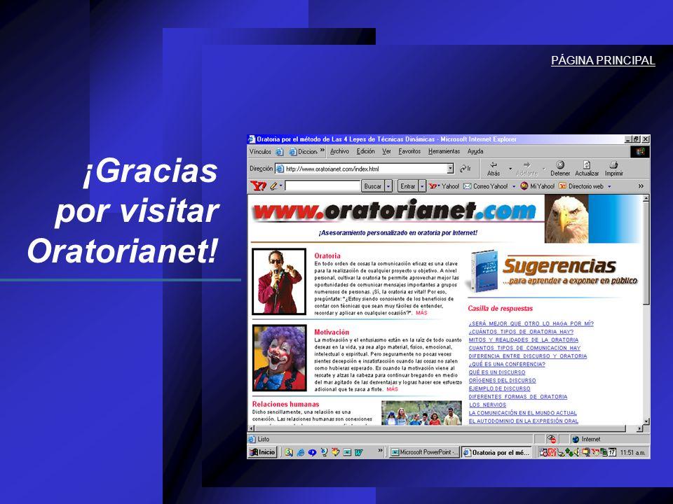 ¡Gracias por visitar Oratorianet! PÁGINA PRINCIPAL.