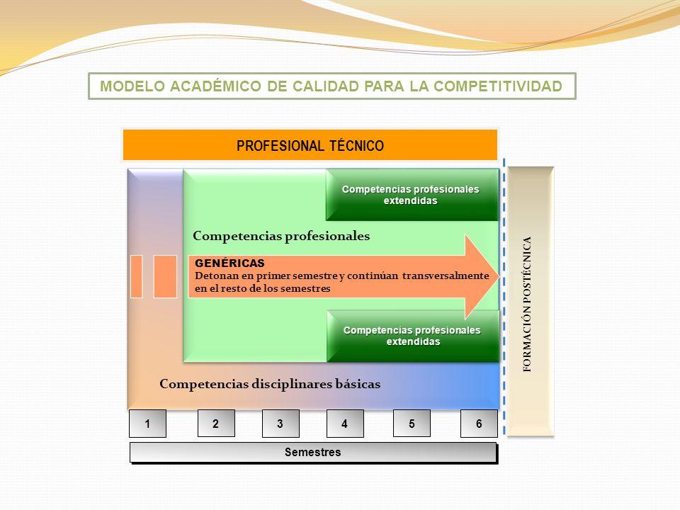 FORMACIÓN POSTÉCNICA Semestres Competencias profesionales 2 34 5 61 extendidas extendidas extendidas extendidas Competencias profesionales extendidas