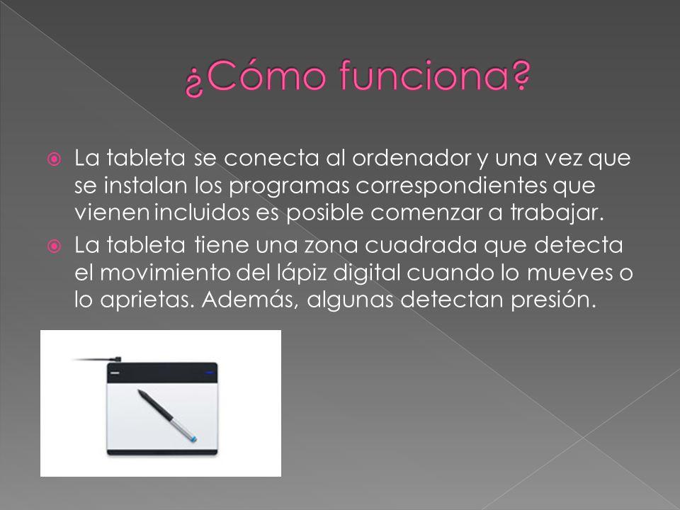 La tableta se conecta al ordenador y una vez que se instalan los programas correspondientes que vienen incluidos es posible comenzar a trabajar.