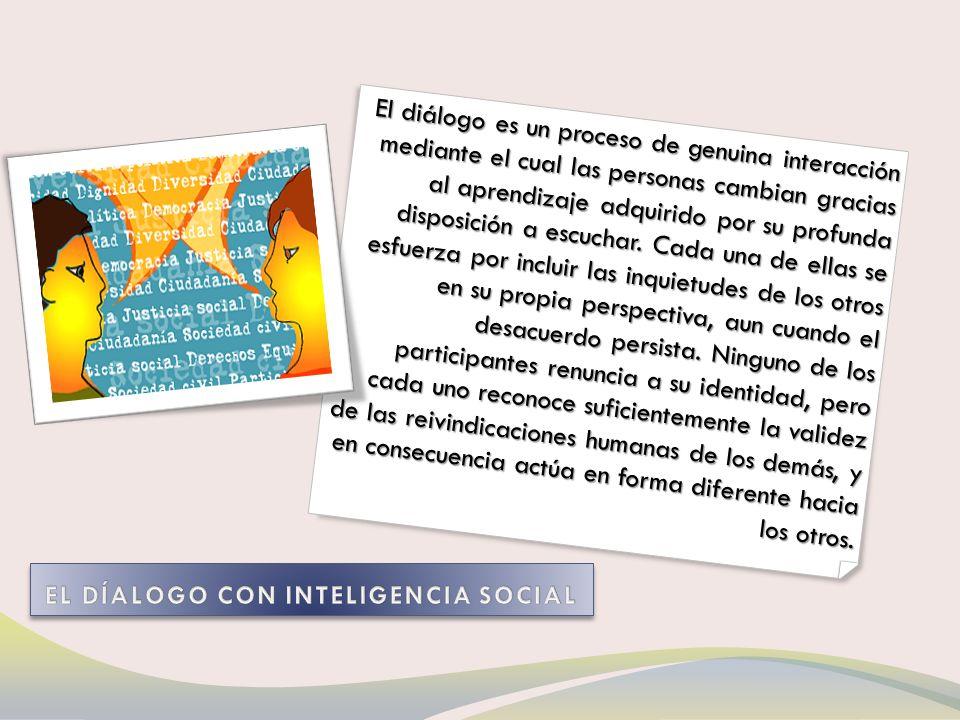 ...el objetivo del diálogo no es defender, sino indagar;...