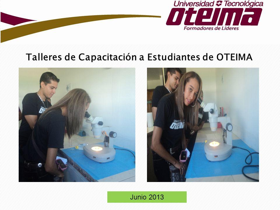 Talleres de Capacitación a Estudiantes de OTEIMA Junio 2013