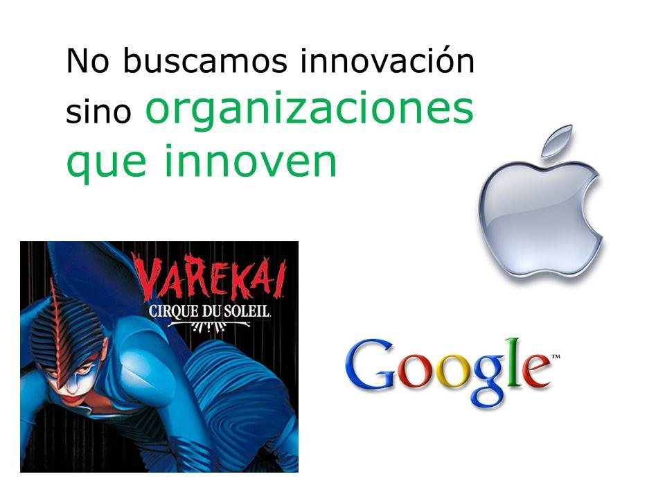 No buscamos innovación sino organizaciones que innoven