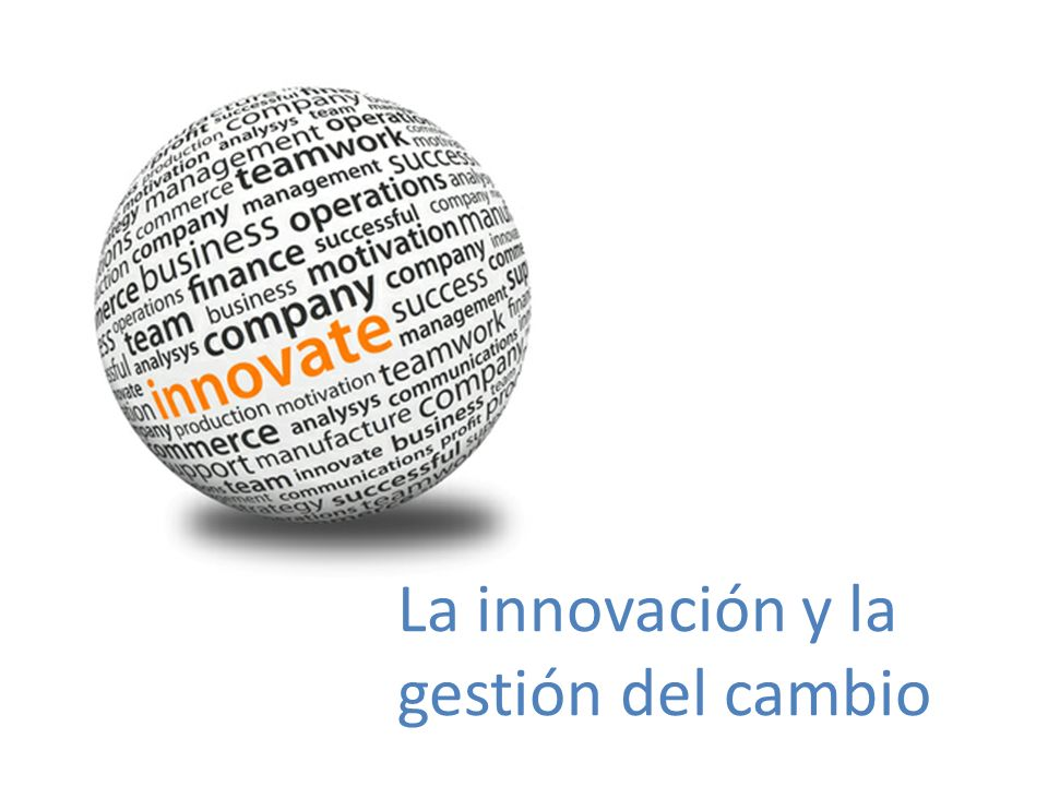 La innovación y la gestión del cambio