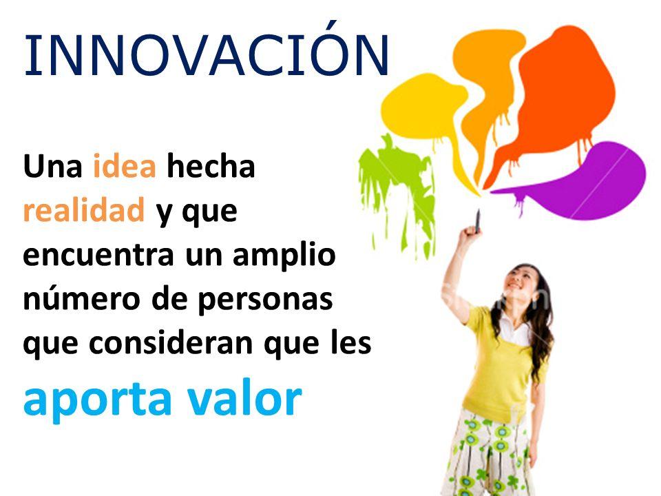 Una idea hecha realidad y que encuentra un amplio número de personas que consideran que les aporta valor INNOVACIÓN