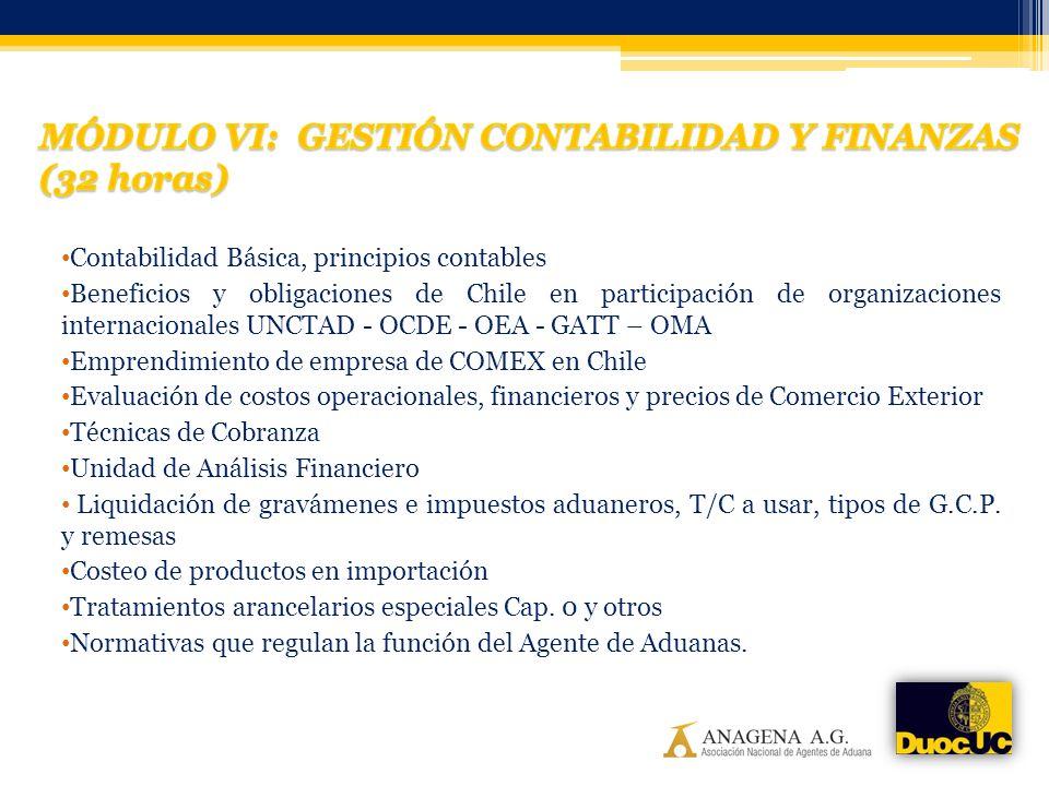 Contabilidad Básica, principios contables Beneficios y obligaciones de Chile en participación de organizaciones internacionales UNCTAD - OCDE - OEA -