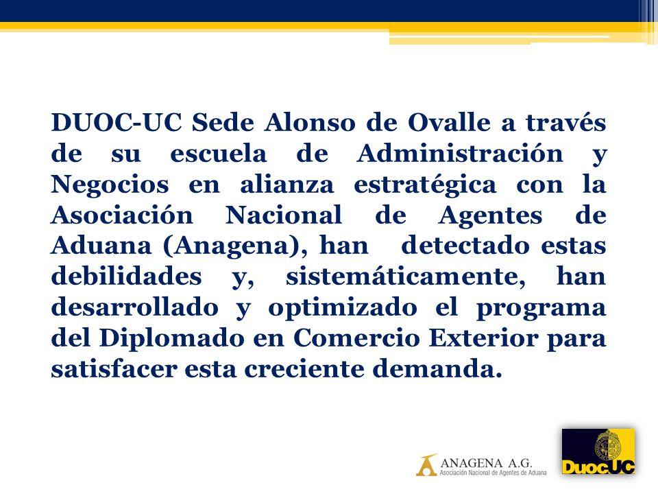 DUOC-UC Sede Alonso de Ovalle a través de su escuela de Administración y Negocios en alianza estratégica con la Asociación Nacional de Agentes de Adua