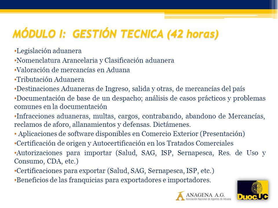 Legislación aduanera Nomenclatura Arancelaria y Clasificación aduanera Valoración de mercancías en Aduana Tributación Aduanera Destinaciones Aduaneras