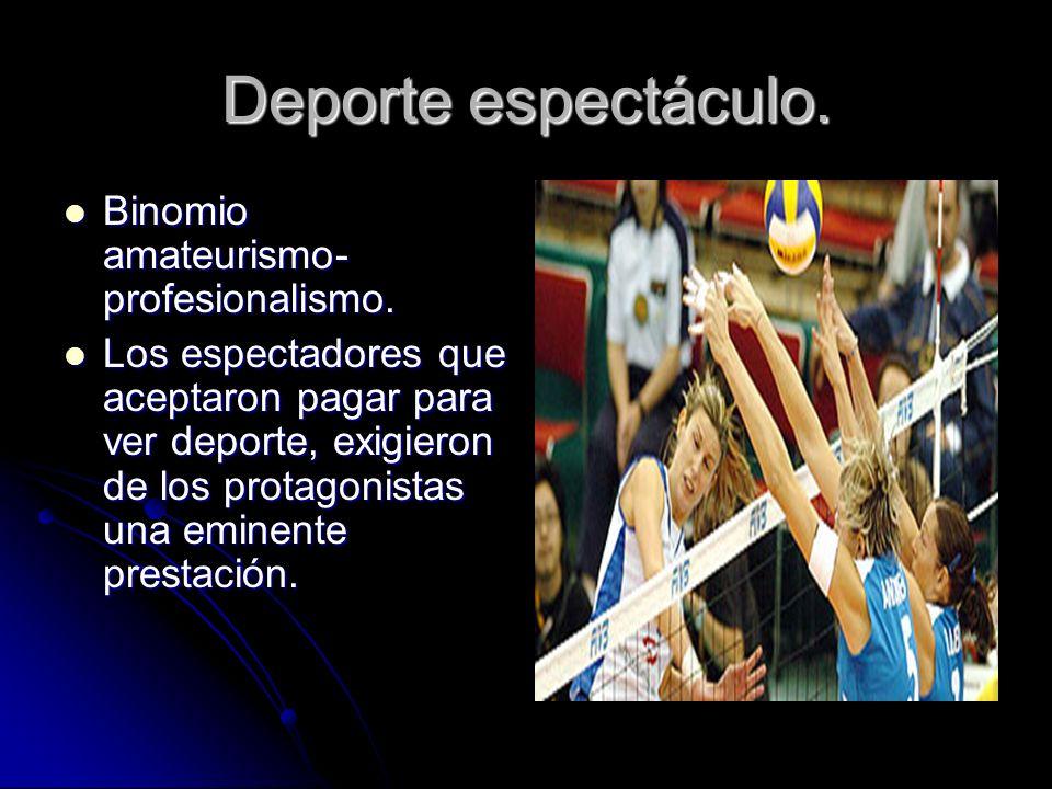 Clasificación dicotómica: Deporte praxis. Deporte praxis. Deporte de ocio o tiempo libre. Deporte de ocio o tiempo libre. Deporte de masas. Deporte de