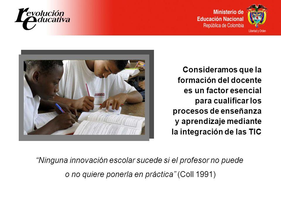 Consideramos que la formación del docente es un factor esencial para cualificar los procesos de enseñanza y aprendizaje mediante la integración de las