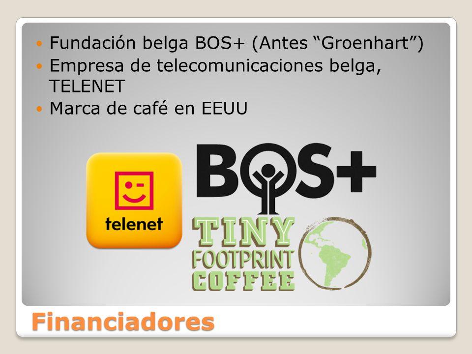 Financiadores Fundación belga BOS+ (Antes Groenhart) Empresa de telecomunicaciones belga, TELENET Marca de café en EEUU