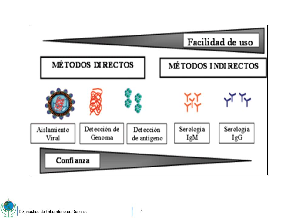 Diagnóstico de Laboratorio en Dengue. 4
