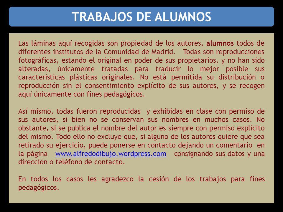 TRABAJOS DE ALUMNOS Las láminas aquí recogidas son propiedad de los autores, alumnos todos de diferentes institutos de la Comunidad de Madrid.