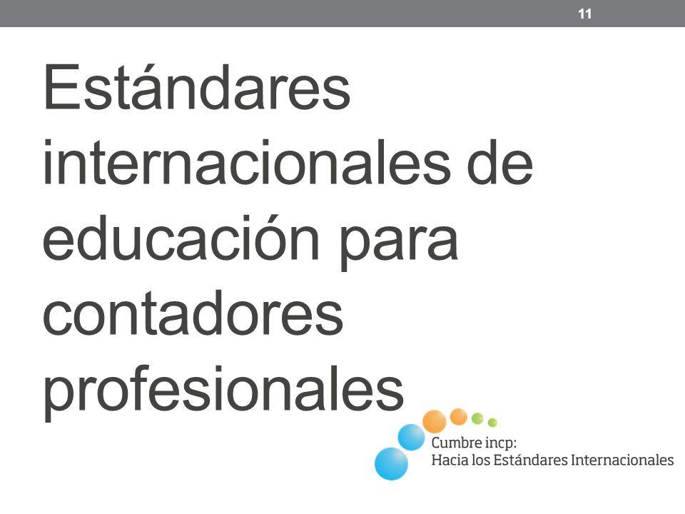 Estándares internacionales de educación para contadores profesionales 11