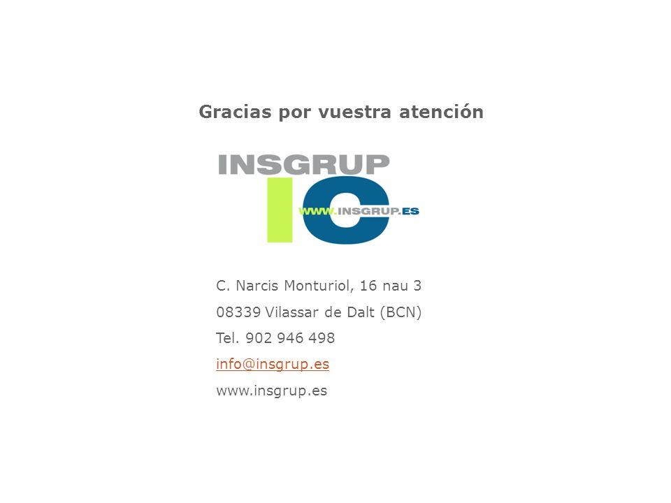 C.Narcis Monturiol, 16 nau 3 08339 Vilassar de Dalt (BCN) Tel.