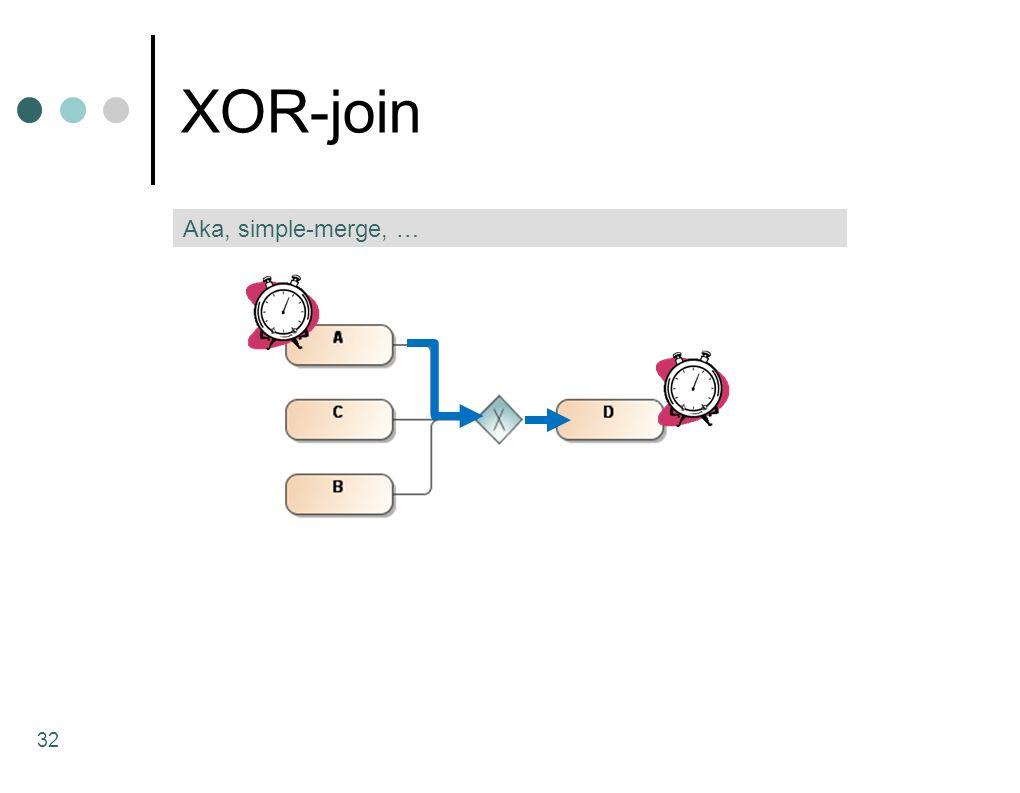 XOR-join 32 Aka, simple-merge, …